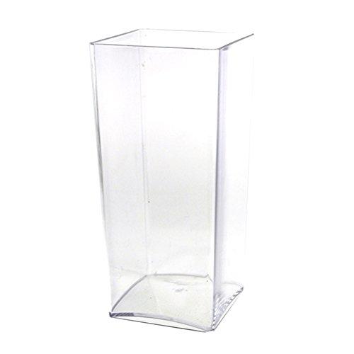 "Firefly Imports FBB0VASQ4410 Clear Acrylic Block Vase Display, 10"""