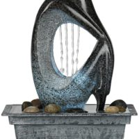 "Modern Silhouette 10"" High LED Tabletop Fountain"