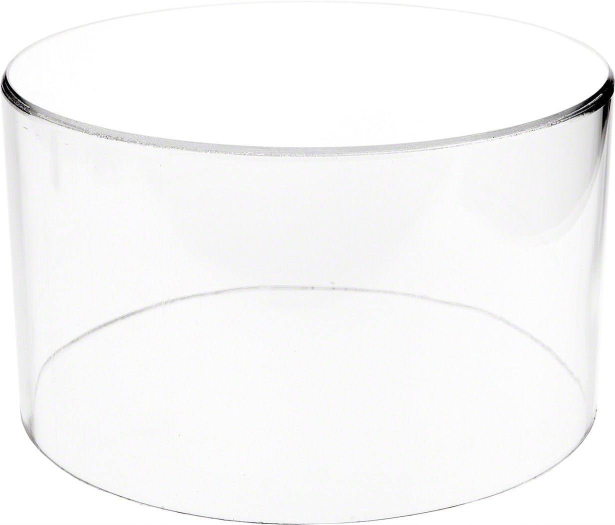 "Plymor Brand Clear Acrylic Round Cylinder Display Riser, 6"" H x 10"" D"
