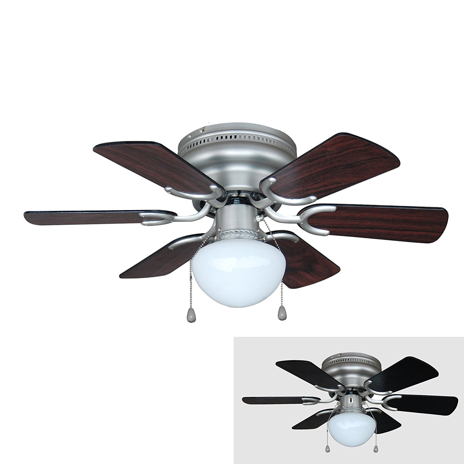 Black Ceiling Fan With Light Elegance Look With Great