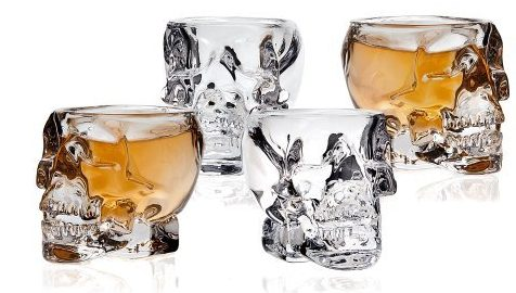 Klikel Skull Shot Glass (Set of 4), Transparent