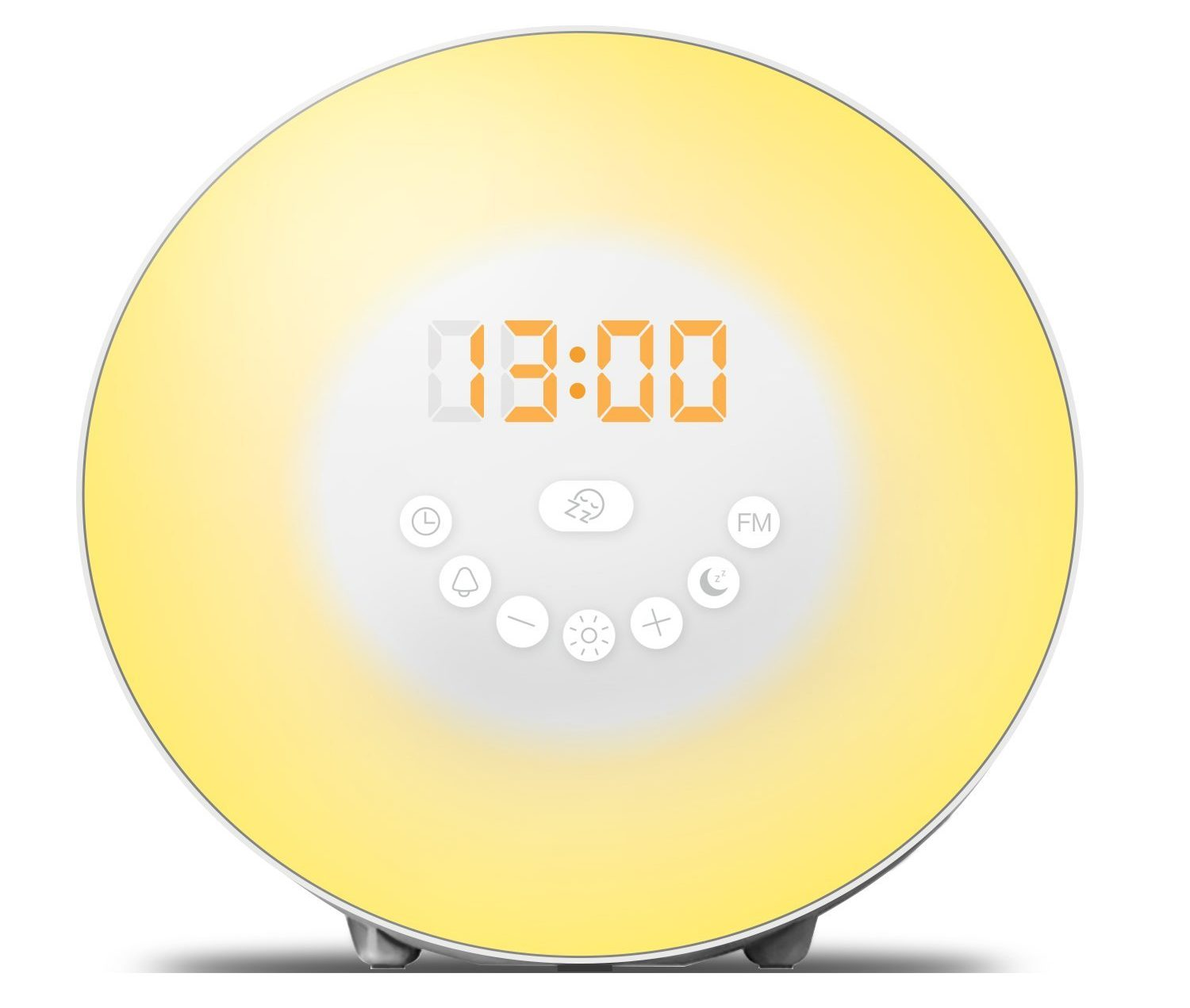 Wake Up Light Alarm Clock - 7 Colors Light - Sunrise Simulator Alarm Clock With Night Light - Nature Sounds - FM Radio - USB Charger - Touch Control - For Heavy Sleepers