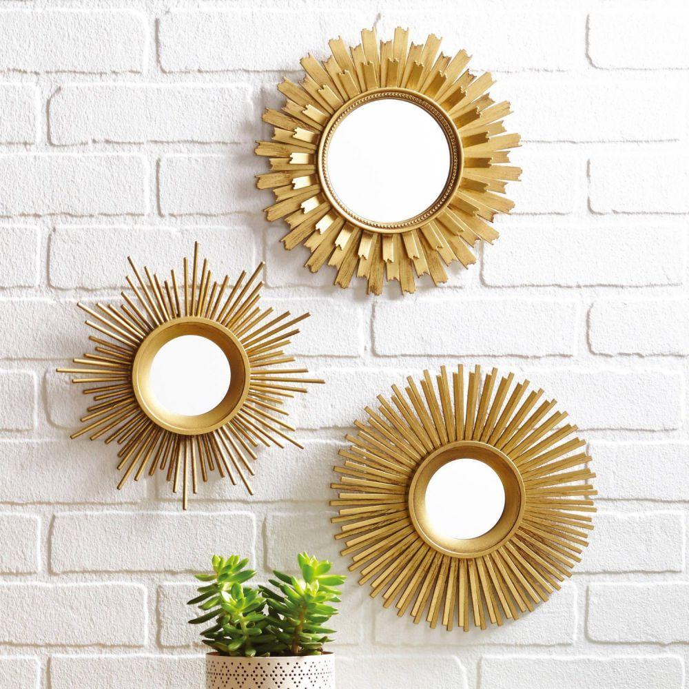 Silver Sunburst Mirror Wall Decor Tyres2c