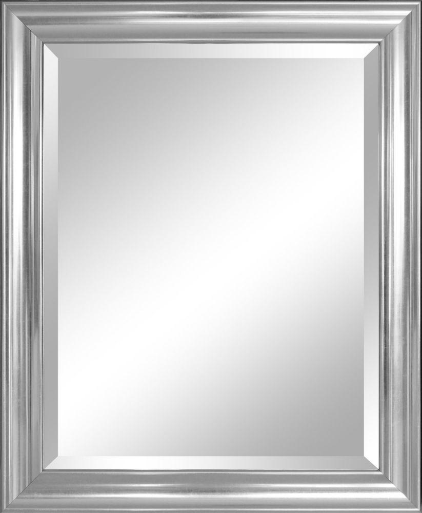 Alpine Mirror & Art Beveled Mirror, Crackled Silver