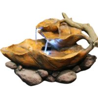 Alpine WIN622 Tabletop Leaf Fountain with White LED Light