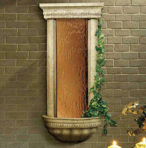 BluWorld Bellezza 45 in. Indoor Wall Fountain - Bronze Mirror
