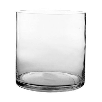 """CYS® Glass Cylinder Vase. H-8"""", Open D-8"""""""