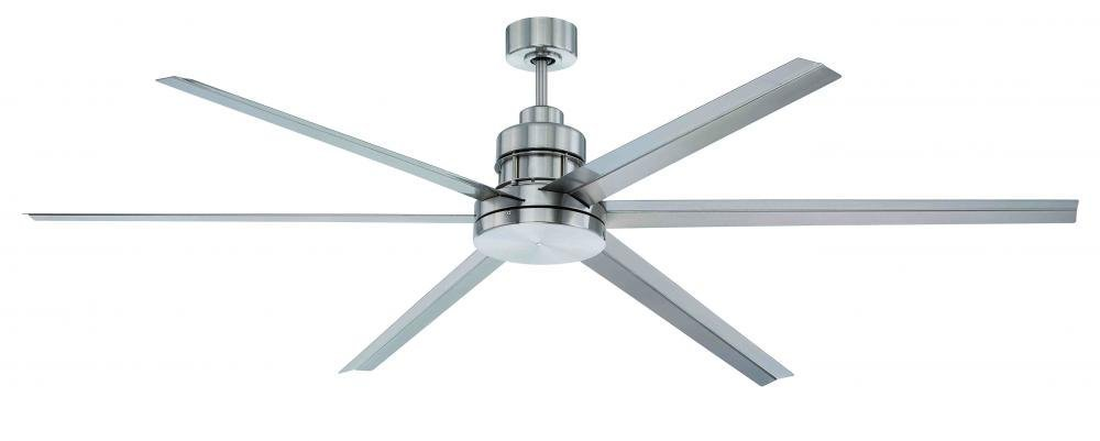 "Craftmade MND72BNK6 Mondo Aluminum Outdoor 72"" Six Blade Ceiling Fan With Remote"