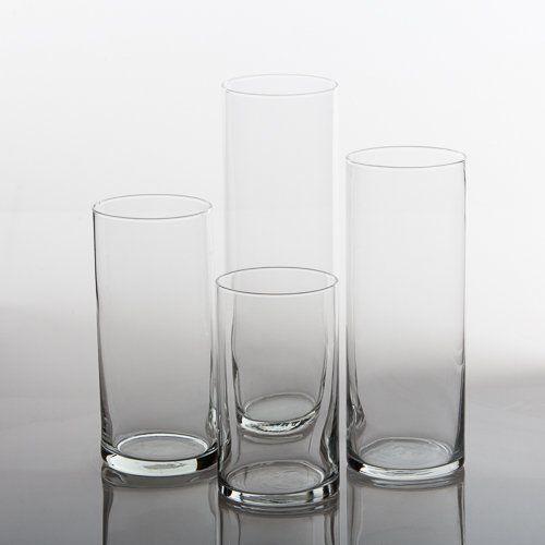 Eastland Glass Cylinder Vases Set of 48