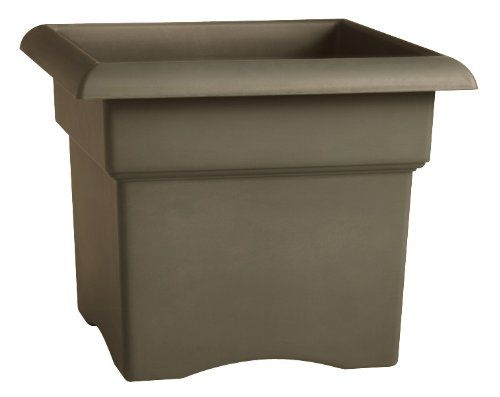 Fiskars 18 Inch Veranda 5 Gallon Box Planter, Color Cement (57718)
