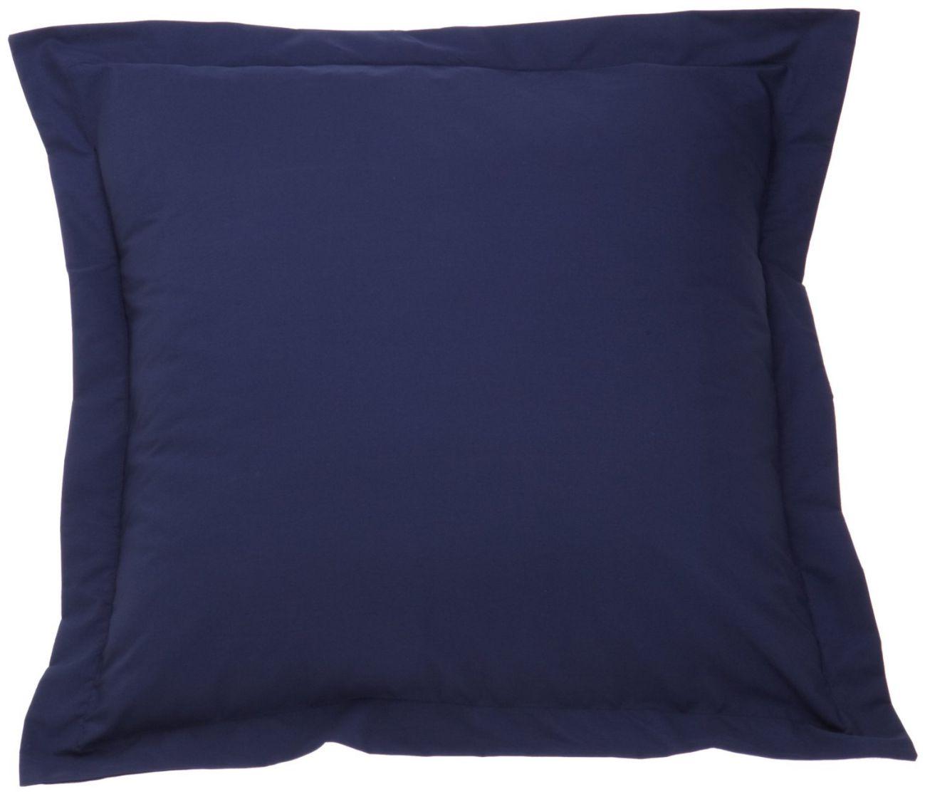 Fresh Ideas Tailored Poplin Pillow Sham Euro, Navy