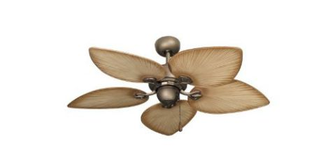 Gulf Coast Fans 42-Inch Bombay Tropical Ceiling Fan - Antique Bronze