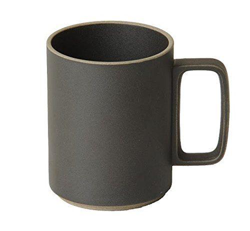 Hasami Porcelain Mug Set of 2 Black (15 oz) 3.1/3 x 4.1/8 (HPB021)