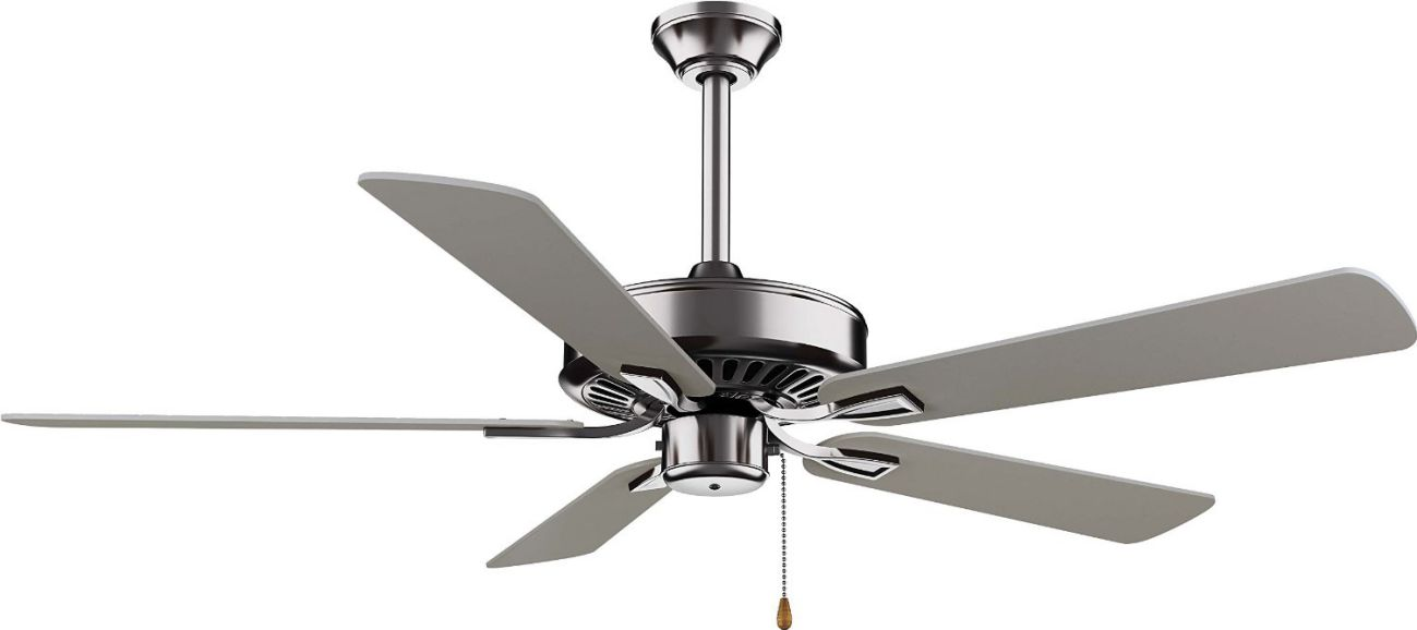 "Minka-Aire F556-BN, Contractor Plus Brushed Nickel Energy Star 52"" Ceiling Fan"