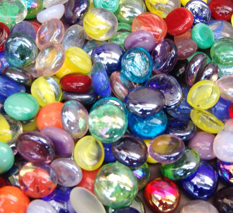 """Miracolors - 1 Lb - Mixed Colors Glass Gems - Vase Fillers (12-19mm, Approx. ½""""- ¾"""")"""