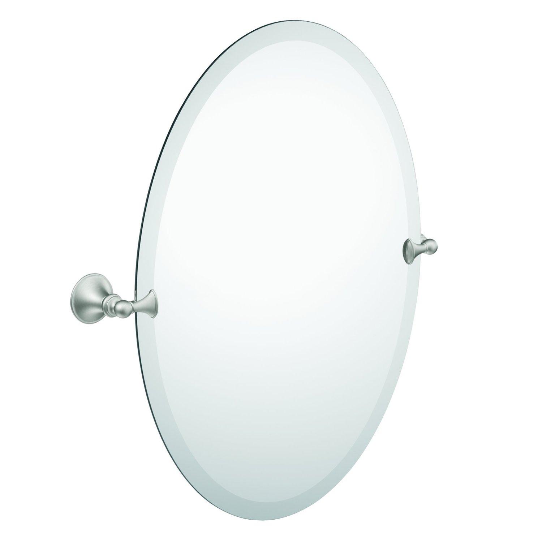 Moen DN2692BN Glenshire Oval Tilting Mirror, Brushed Nickel