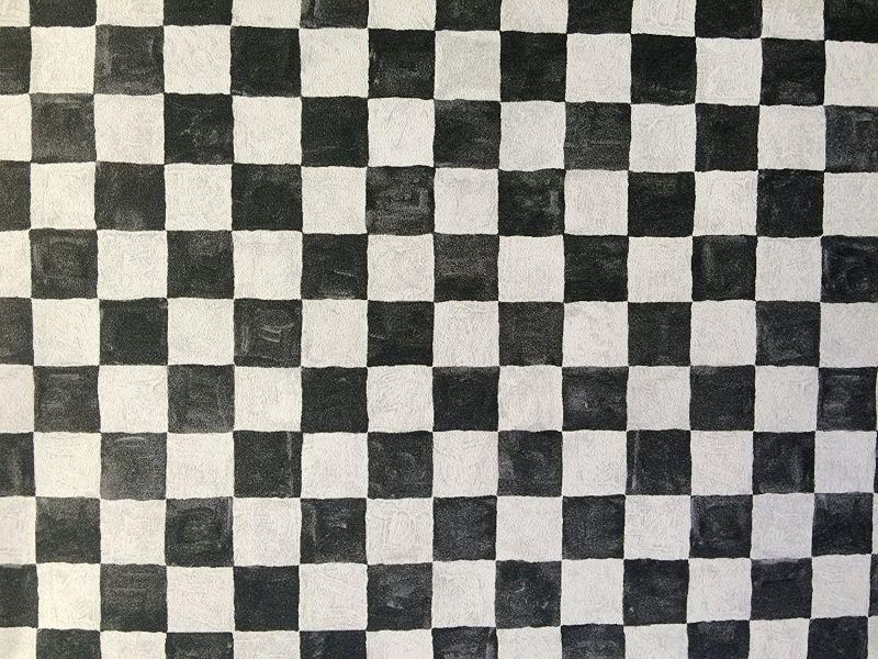 Norwall Black & White Checkered Wallpaper Aw25127l
