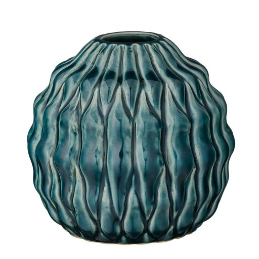 Stout Teal Ceramic Vase