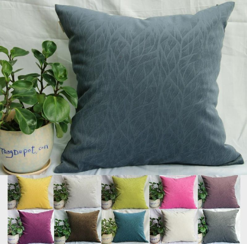 "TangDepot Solid Velvet Decorative Pillow Covers/Euro Pillow shams, Super Soft Velour, Micro embossed Leaf texture and shape, 10 sizes & 11 colors options, Blue, Blue Black, Charcoal Black, Coffee, Hot Pink, Light Green, Light Purples, Silver Gray, White, Wine, Yellow, 12"" x 12"", 12"" x 18"", 12"" x 20"", 14"" x 14"", 16"" x 16"", 18"" x 18"", 20"" x 20"", 22"" x 22"", 24"" x 24"" and 26"" x 26"" - (16""x16"", Blue Black)"