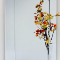 """24"""" X 36"""" Rectangle Bevel Overlay Trim Wall Mirror with Decorative Bevel Edge"""