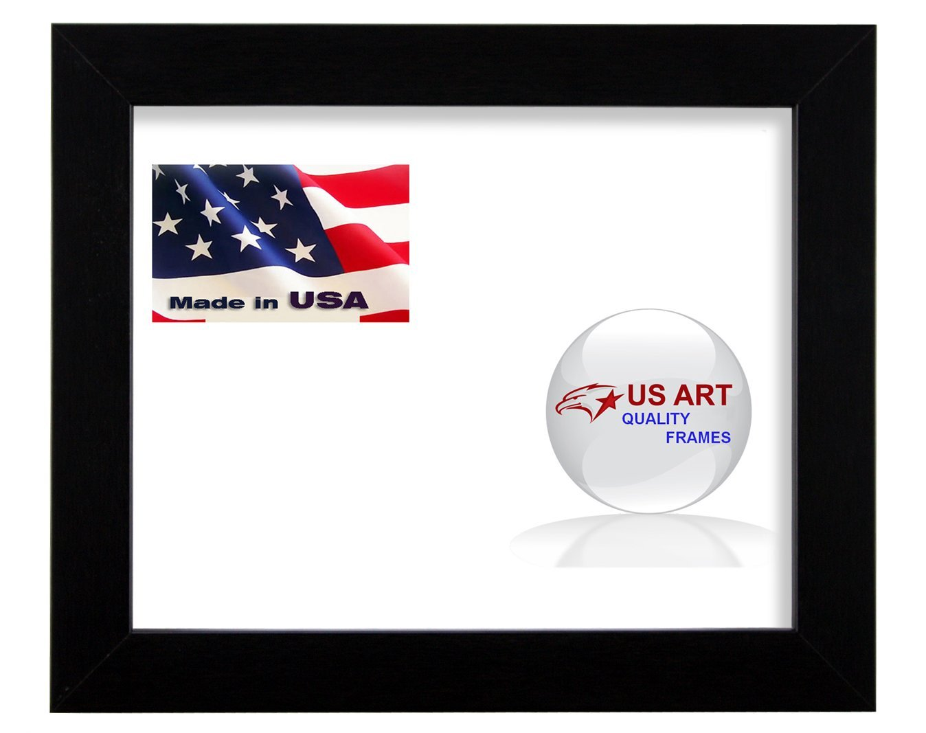 24x30 Custom Satin Black Wrapped Finish Picture Poster Photo Frame Wood Composite Mdf 1.25 inch Wide Moulding