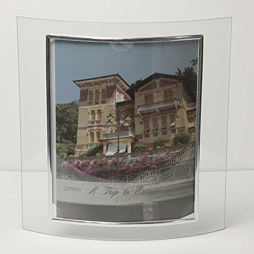8x10 Glass Picture Frame Curved Stand