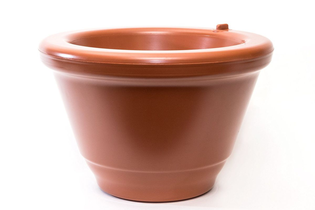Aqua Camel 14 inch Pot, Terracotta, Self Watering Planter System