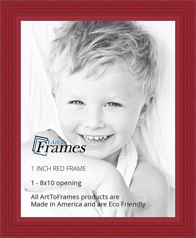 ArtToFrames 8x10 inch Red Stain on Red Oak Wood Picture Frame, WOM0066-60823-YRED-8x10