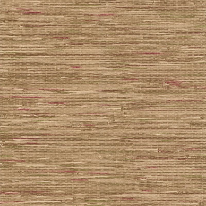 Brewster 414-44139 Faraji Light Brown Faux Grasscloth Wallpaper