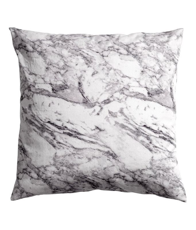 "Carrara Marble Grey White Accent Decorative 100% Cotton Twill Venice Italian Italy Marble Throw Pillow Cover Cushion 20 X 20"" Gray"