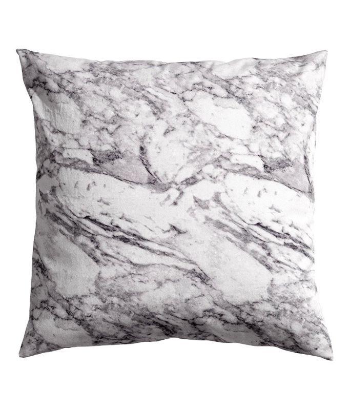 "Carrara Marble Grey White Accent Decorative 100% Cotton Twill Venice Italian Italy Marble Throw Pillow Cover Cushion 20 X 20"" Gray"