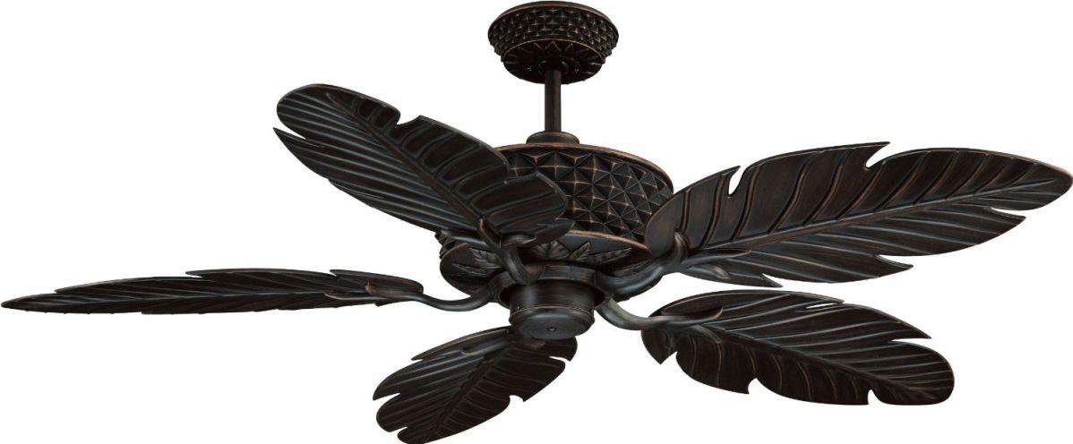 """Ellington PAP52ABZ5RCDI, Pineapple Aged Bronze 52"""" Outdoor Ceiling Fan w/ Wall & Remote Ctrl"""