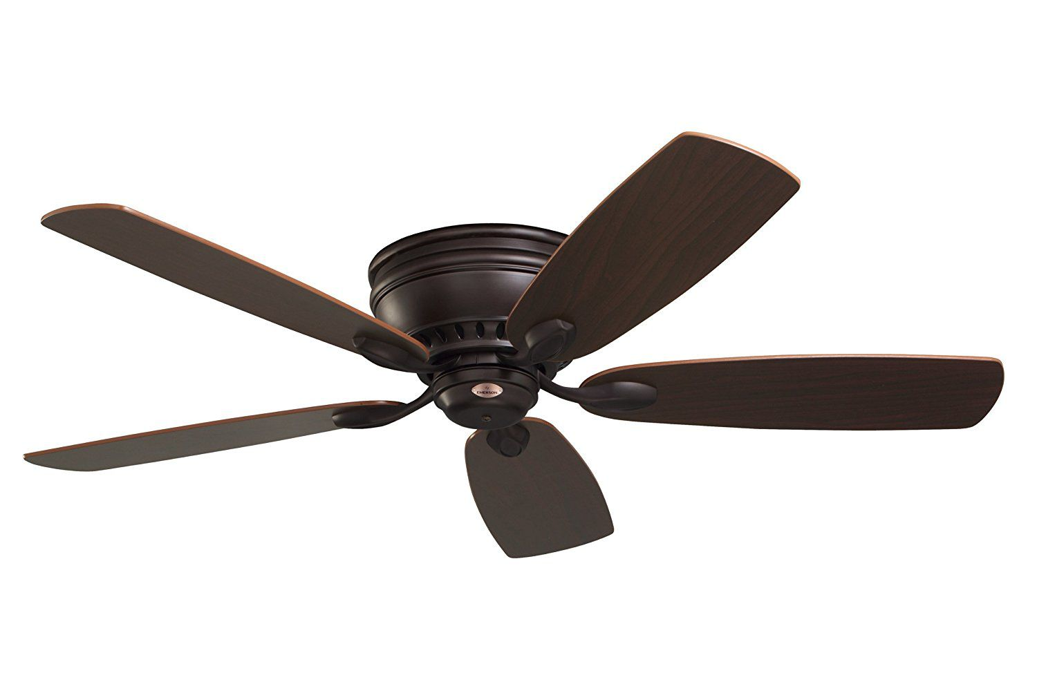 Emerson Ceiling Fans CF905ORB Prima Snugger 52-Inch Low Profile Ceiling Fan With Wall Control, Light Kit Adaptable, Oil Rubbed Bronze Finish