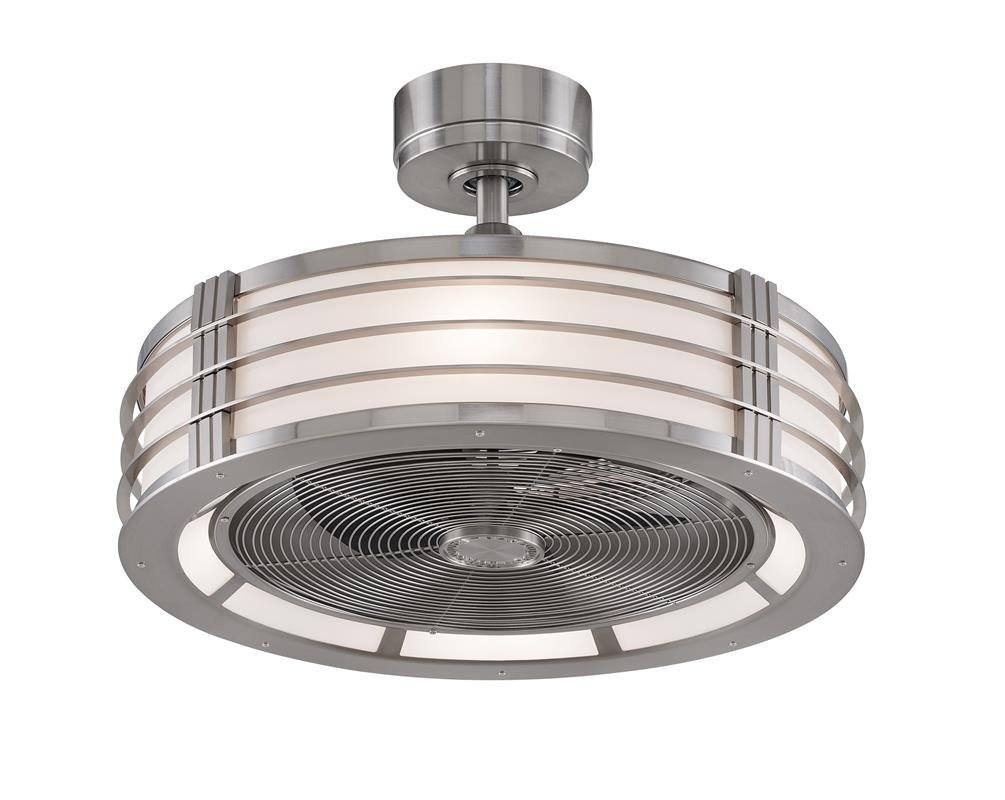 Fanimation FP7964BN Beckwith Fan with Opal Frosted Shade, Brushed Nickel