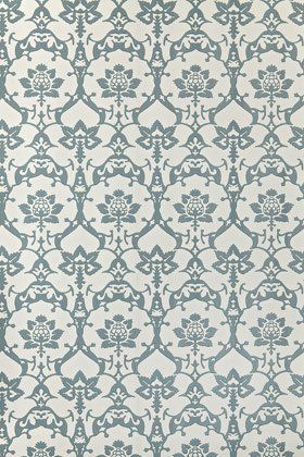 Farrow & Ball - BP3209 - Brocade Wallpaper - Blue