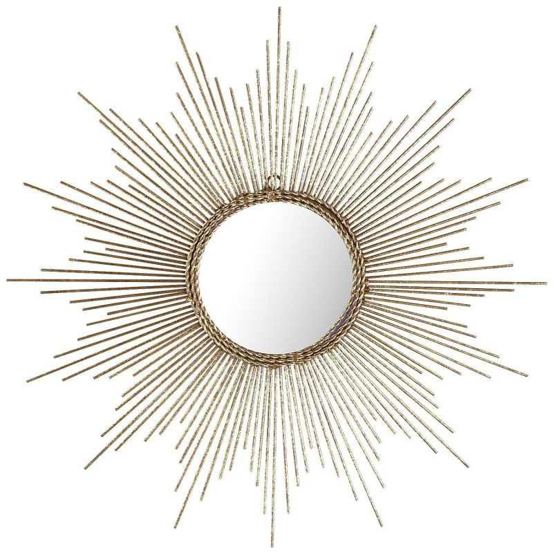 Gold or Silver Sunburst Starburst Wall Mirror (Small or Large) (Gold, Small)
