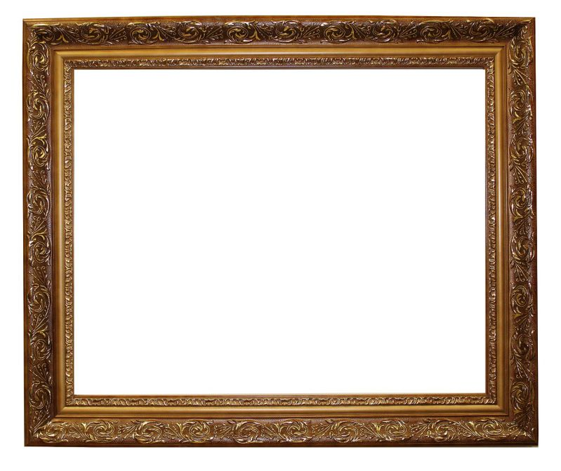 "Gold picture/poster frame size 24x30-inch, ornate finish,solid wood, 2.5"" wide"