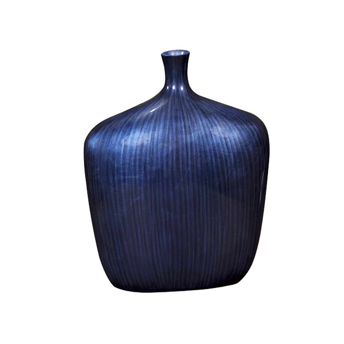 Howard Elliott 22076S Sleek Vase, Small, Cobalt Blue