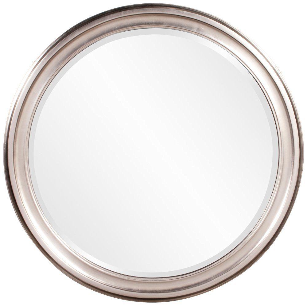 Howard Elliott 53045 George Round Mirror, Brushed Nickel