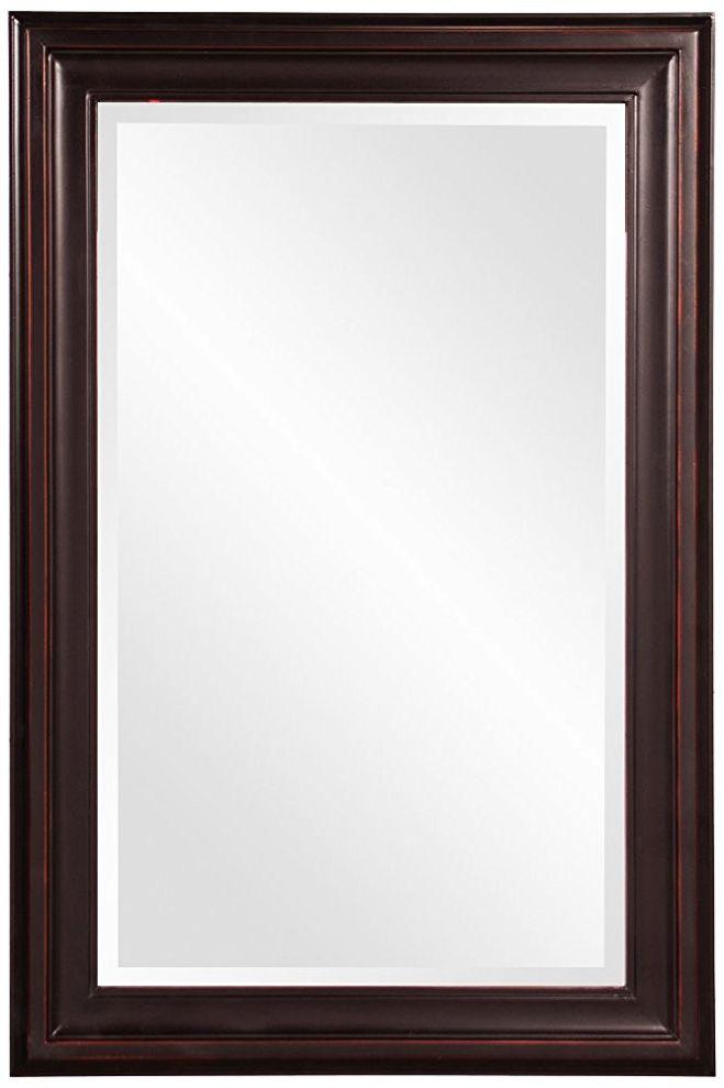 Howard Elliott 53047 George Rectangular Mirror, Oil Rubbed Bronze