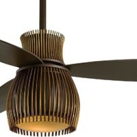 """Minka-Aire F824-ORB/TB, Uchiwa Oil-Rubbed Bronze 56"""" Ceiling Fan with Light & Wall Control"""
