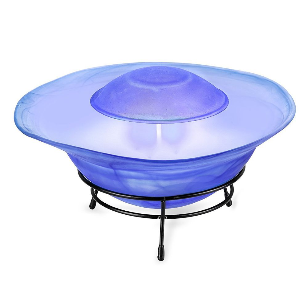 Multimode Tabletop Mist Maker Water Humidifier Fountain Lamp 12-LED Color Changing,blue (Sf-811b)