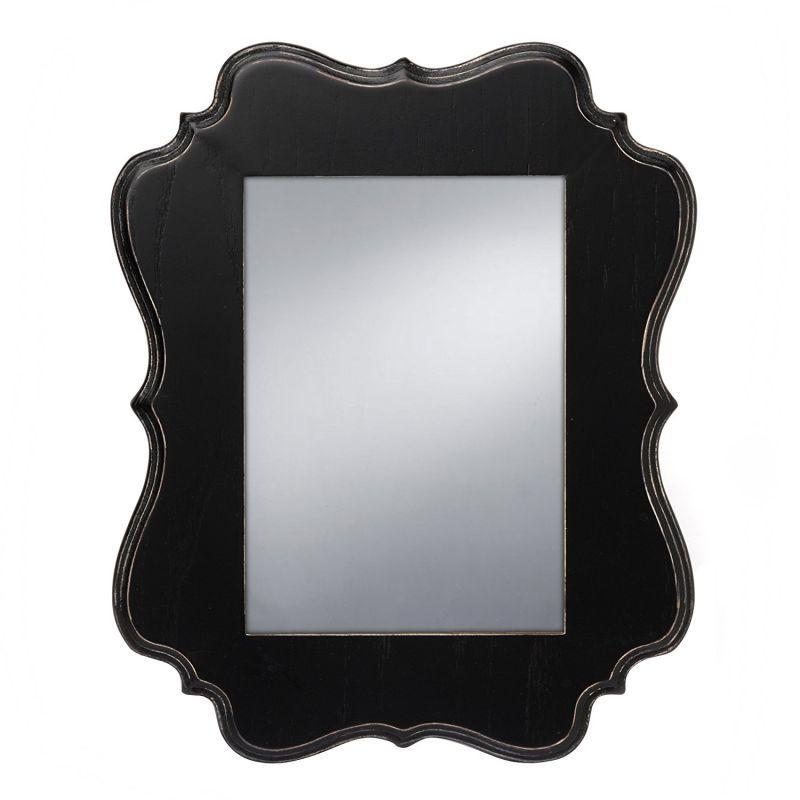 Prinz Annabelle Mirror with Black Ashwood Veneer Wood Frame, 14 by 12-Inch
