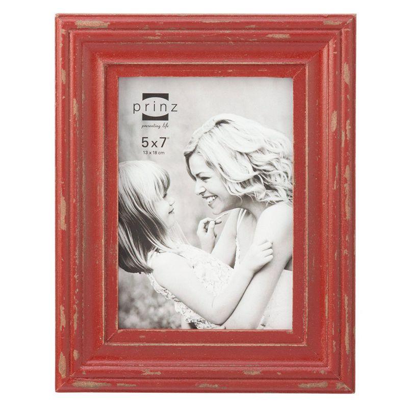 "Prinz Carson Wood Frame, 5 x 7"", Red"