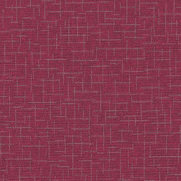 Romosa Wallcoverings Geo Mellow Red Faux Linen Embossed Wallpaper Roll Decor