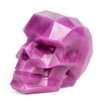 Skull Candle – Skull - Geometric Candles – Purple