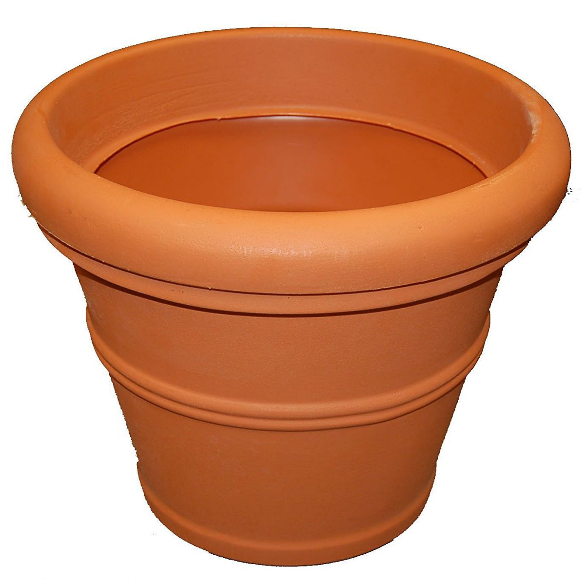 Tusco Products T20 Rolled Rim Pot, Round, Terra Cotta, 20-Inch, Large Size
