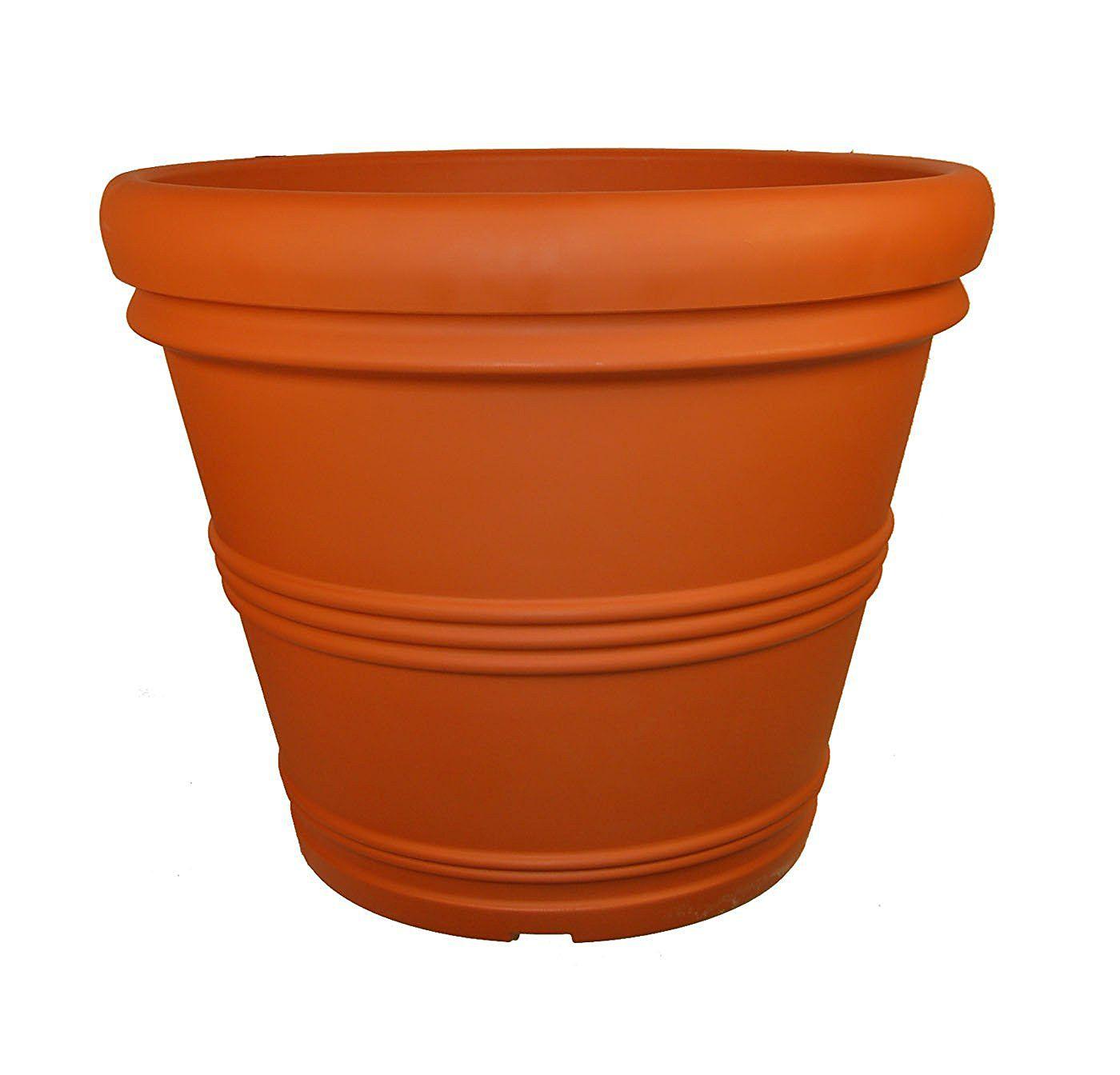 Tusco Products T30 Rolled Rim Pot, Round, Terra Cotta, 30-Inch