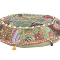 Vintage Pillow Cases Floor Meditation Patchwork Bohemian Ottoman Poufs