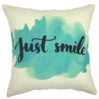 YOUR SMILE Cotton Linen Square Decorative Throw Pillow Case Cushion Cover 18x18 Inch(44CM44CM) (YS243)